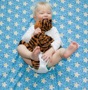 52 Weeks - 1 year!  He was only happy if he had his tiger.